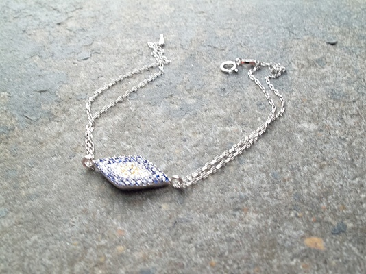 Sterling Blue sterling eye bracelet