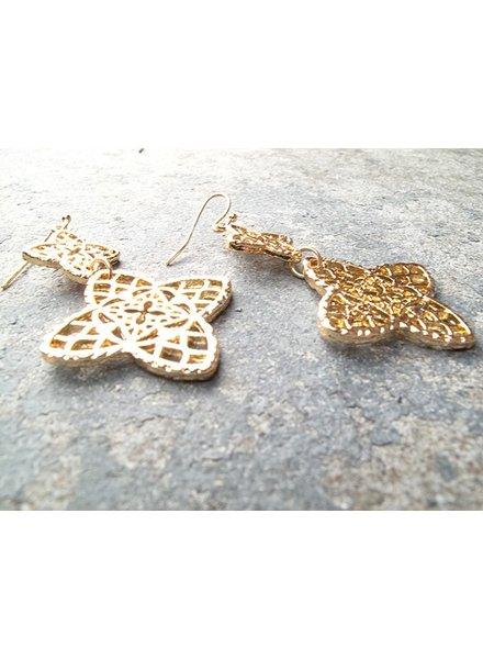 Gold Gold clover dangle