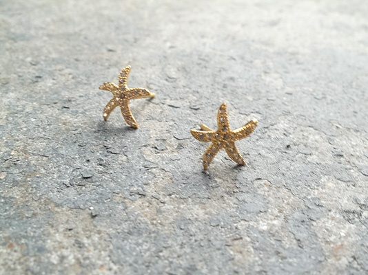 Sterling Gold starfish studs