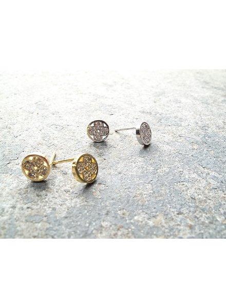 Stud Round mini clovers