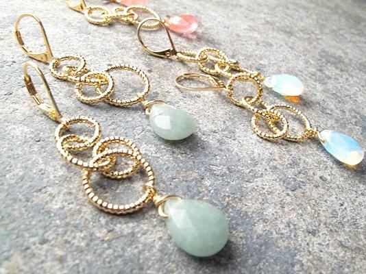 Stone Gold looped dangle