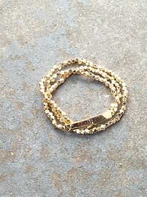 Gold Gold believe wrap