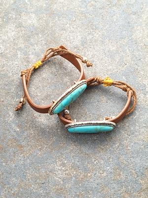 Leather Western leather bracelet