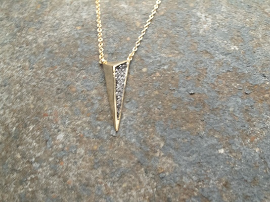 Sterling Gold spear pendant