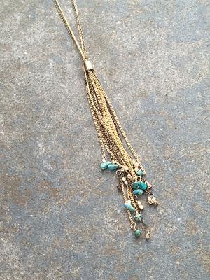 Long Turquoise tassel