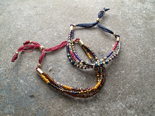 Trend 3 layer beaded bracelet