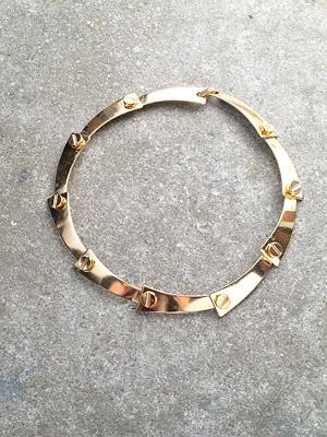 Gold Nailed gold chocker