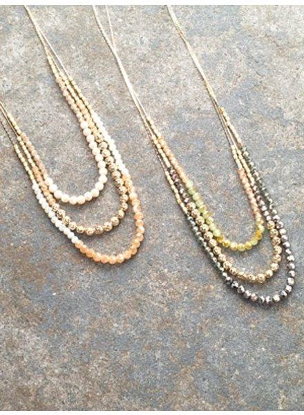 Stone Pastel glass beads