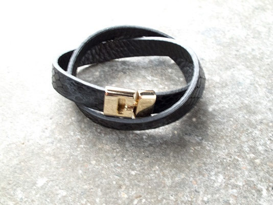 Leather Double wrap snake
