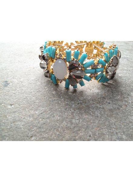 Designer Emebellished statement bracelet