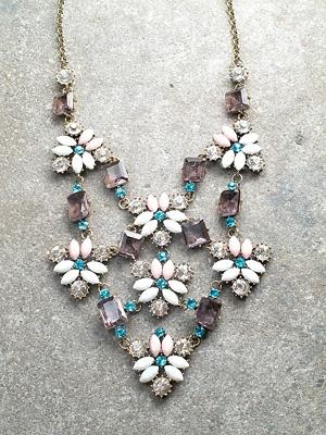 Trend Floral mosaic bib