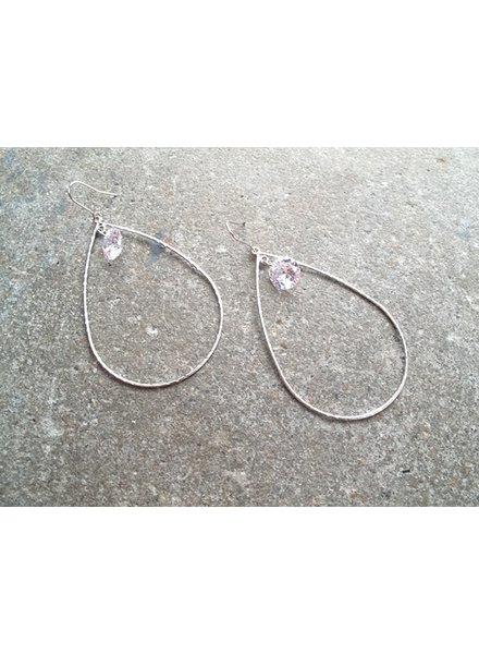 Silver Silver and crystal hoop