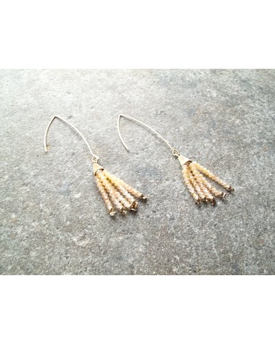 tassels panacea earrings dp stone with agate com amazon statement peach