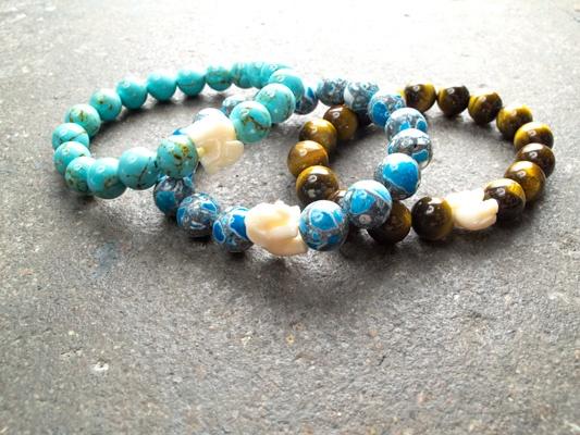 Stone Large elephant bracelet