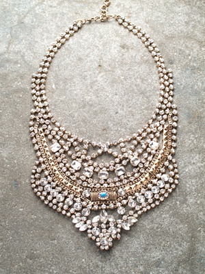 floral statement serefina necklace white bib mega products