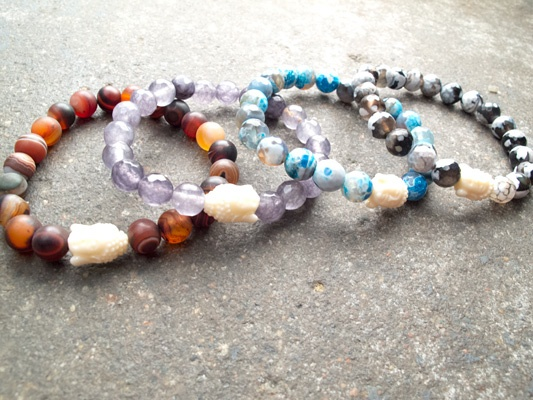 Stone Medium marbled buddha bracelet