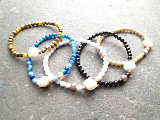 Stone Elephant bracelet *MORE COLORS
