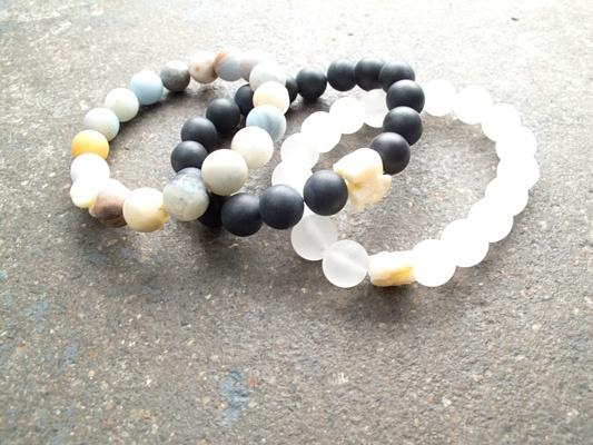 Stone Medium matte elephant bracelet