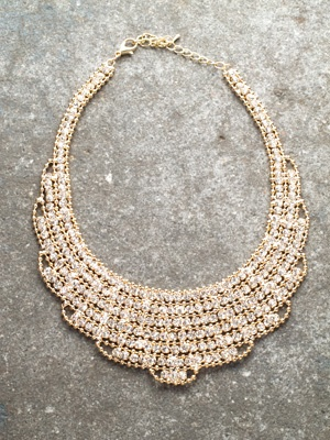 Dressy Gold and rhinestone collar