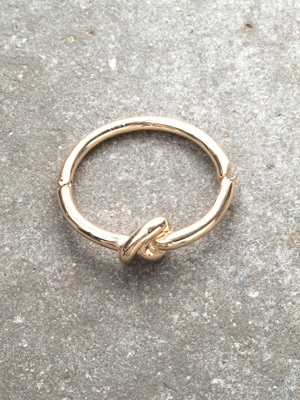 Gold Gold or silver knot bangle