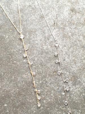 Stone Embellished Y necklace