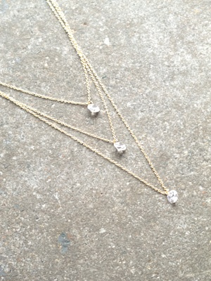 Dressy Triple layer crystal strands