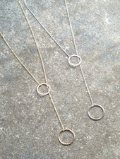 Casual Dainty O lariat necklace