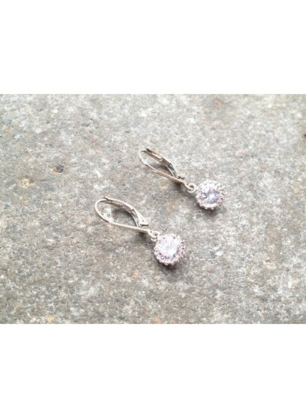 Silver Small rhinestone dangle