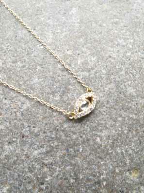 Sterling Gold evil eye necklace