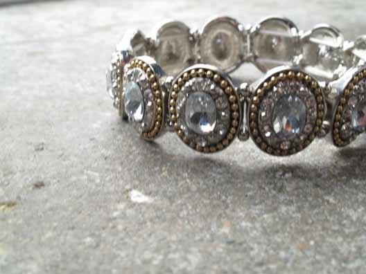 Dressy Gold and silver trim rhinstones