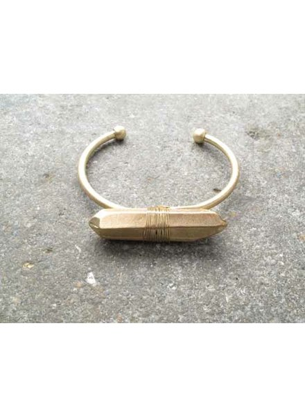 Gold Gold rock bangle