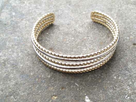 Gold Twisted rope gold cuff