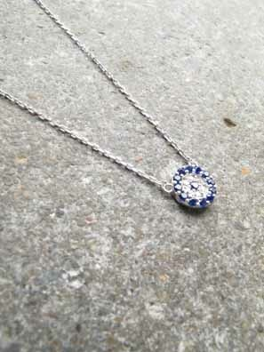 Sterling Small sterling evil eye necklace