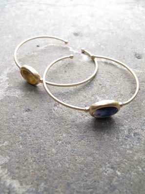 Accessories Dainty gold stone bangle