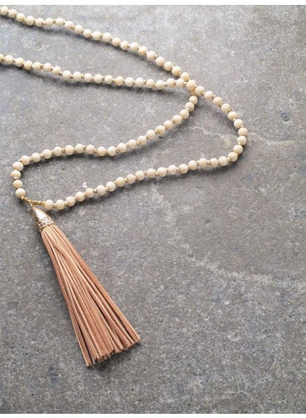 Long Small bead tassel necklace *4 COLORS