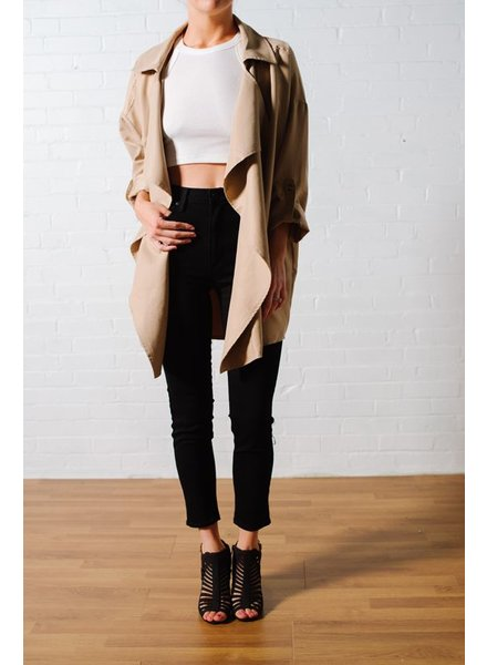 Khaki drapey trench *BACK IN STOCK!