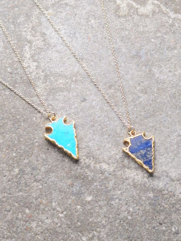 necklace gods dual the arrow front gold zumiez