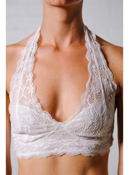 Lace Halter neck lace bra