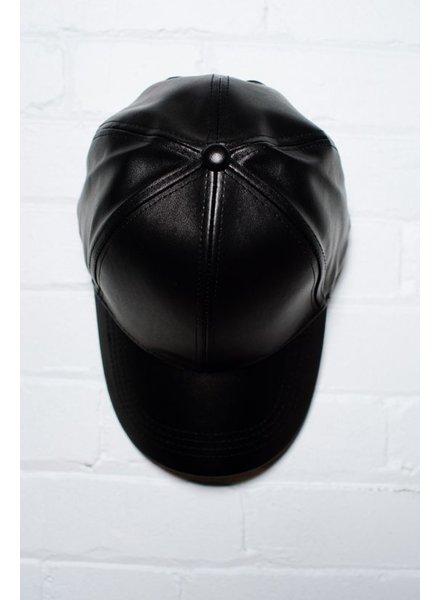 Hat Vegan leather baseball cap