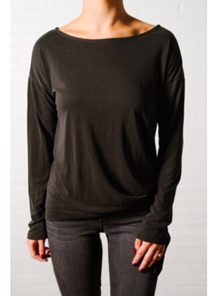 T-shirt Black side tie top