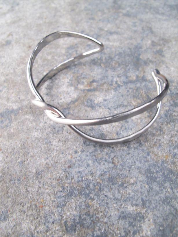 Silver Brush silver twist cuff