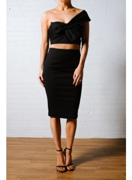 Skirt One shoulder bow crop *MATCHING SKIRT SOLD SEPARATELY