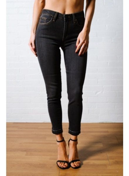 Jeans High rise raw hem charcoal jeans