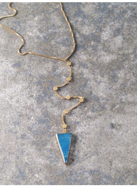 Stone Long turquoise arrow necklace