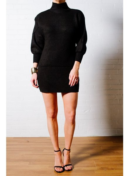 Sweater Black ribbed knti dress