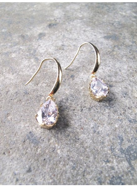 Dressy Gold teardrop dangle