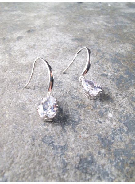 Dressy Silver teardrop dangle