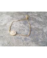 Gold Dainty gold rhinestone detail bracelet