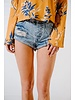 Shorts Acid wash denim cutoffs
