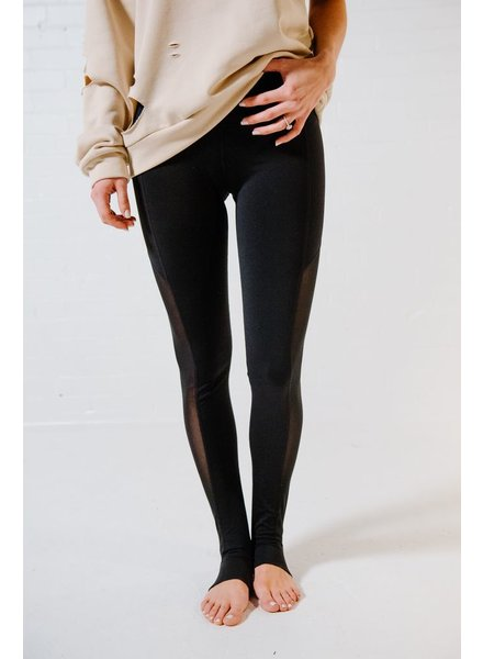 Leggings Mesh panel stirrup leggings